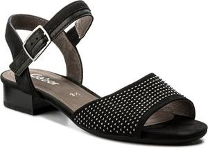 Sandały gabor z nubuku na obcasie