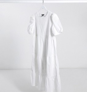 New Look Maternity – Biała warstwowa sukienka midaxi-Biały