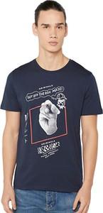 Niebieski t-shirt Jack & Jones z krótkim rękawem