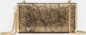 Złota torebka Kazar ze skóry do ręki