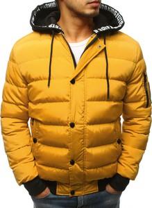 Żółta kurtka Dstreet w stylu casual z dresówki