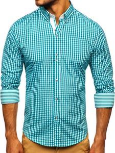 Niebieska koszula Denley z kołnierzykiem button down