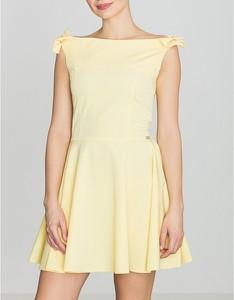 Żółta sukienka LENITIF bez rękawów