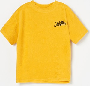 Żółta koszulka dziecięca Reserved z krótkim rękawem