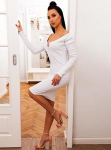 940b354fbb725b Sukienka SELFIEROOM z bawełny w stylu casual z długim rękawem