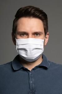 MASKKA 1538 Bawełniana maska Classic Biały Bawełna 100%