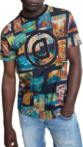 T-shirt Desigual z krótkim rękawem z nadrukiem