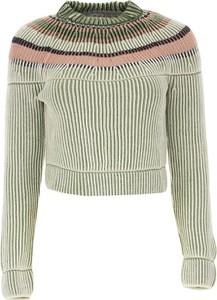 Zielony sweter Missoni z plaru w stylu skandynawskim w stylu casual