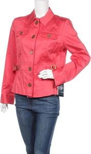Różowa kurtka Jones New York krótka w stylu casual