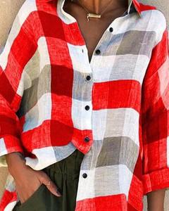 Czerwona koszula Kendallme z długim rękawem