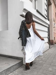 Sukienka SELFIEROOM maxi w stylu casual z dekoltem na plecach