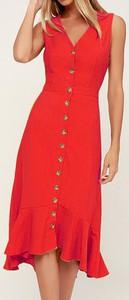 Czerwona sukienka Cikelly mini z dekoltem w kształcie litery v