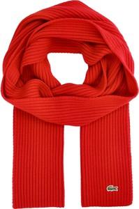Czerwony szal męski Lacoste