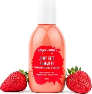 Uoga Uoga, Jump into summer, żel pod prysznic, z ekstraktem z truskawki, 250 ml
