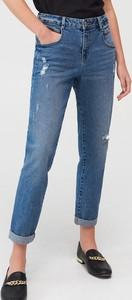 Granatowe jeansy Mohito