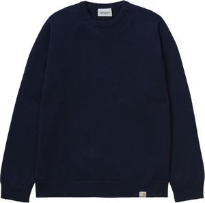 Sweter Carhartt WIP z okrągłym dekoltem w stylu casual z wełny