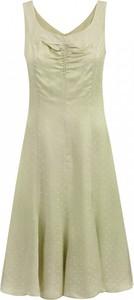 Złota sukienka POTIS & VERSO mini rozkloszowana