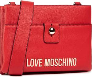 Czerwona torebka Love Moschino matowa