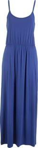 Sukienka bonprix bpc bonprix collection maxi w stylu casual z okrągłym dekoltem