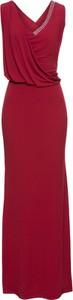 Czerwona sukienka bonprix BODYFLIRT boutique na bal kopertowa