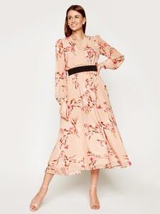 Sukienka Marella maxi z dekoltem w kształcie litery v z długim rękawem