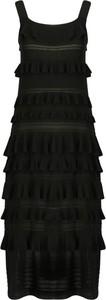 Czarna sukienka Twinset z okrągłym dekoltem