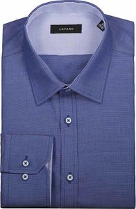 Niebieska koszula Lavard z długim rękawem z klasycznym kołnierzykiem
