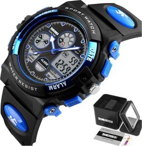 Zegarek DZIECIĘCY SKMEI 1163 datownik LED blue