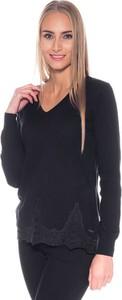 Czarny sweter Pepe Jeans w stylu klasycznym