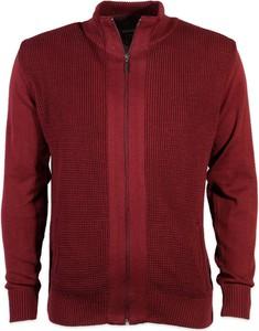 Czerwony sweter Willsoor ze stójką w stylu casual
