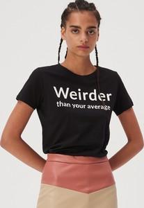 T-shirt Sinsay z okrągłym dekoltem z krótkim rękawem w młodzieżowym stylu