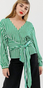 Zielona bluzka mbyM z długim rękawem