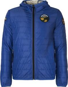 Niebieska kurtka ubierzsie.com z tkaniny