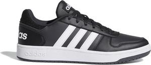 Czarne buty sportowe Adidas ze skóry ekologicznej