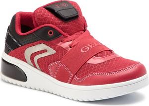 Czerwone buty sportowe dziecięce Geox sznurowane