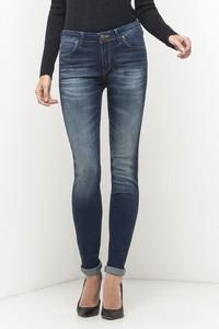 Granatowe jeansy Lee w stylu casual