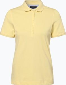 Żółty t-shirt Franco Callegari z kołnierzykiem