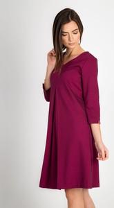 Sukienka QUIOSQUE mini z długim rękawem rozkloszowana