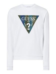 Bluza Guess z nadrukiem z bawełny