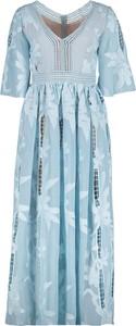 Niebieska sukienka Lavard maxi