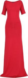 Czerwona sukienka Yuliya Babich z krótkim rękawem prosta