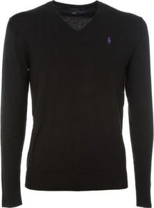 Czarny sweter POLO RALPH LAUREN z wełny w stylu casual