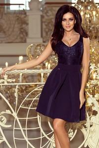 Niebieska sukienka NUMOCO midi rozkloszowana