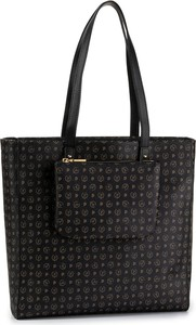 Czarna torebka Pollini na ramię