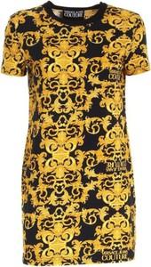Sukienka Versace Jeans mini w stylu casual z okrągłym dekoltem