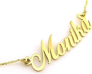 Lovrin Złoty naszyjnik 585 celebrytka imię Monika 2,62 g