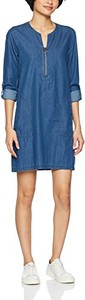 Niebieska sukienka Q/s Designed By - S.oliver z długim rękawem