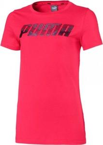 Różowa bluzka dziecięca Puma z bawełny