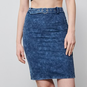 Niebieska spódnica Reserved mini