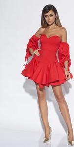 6698b028e8 sukienka gorsetowa czerwona. - stylowo i modnie z Allani